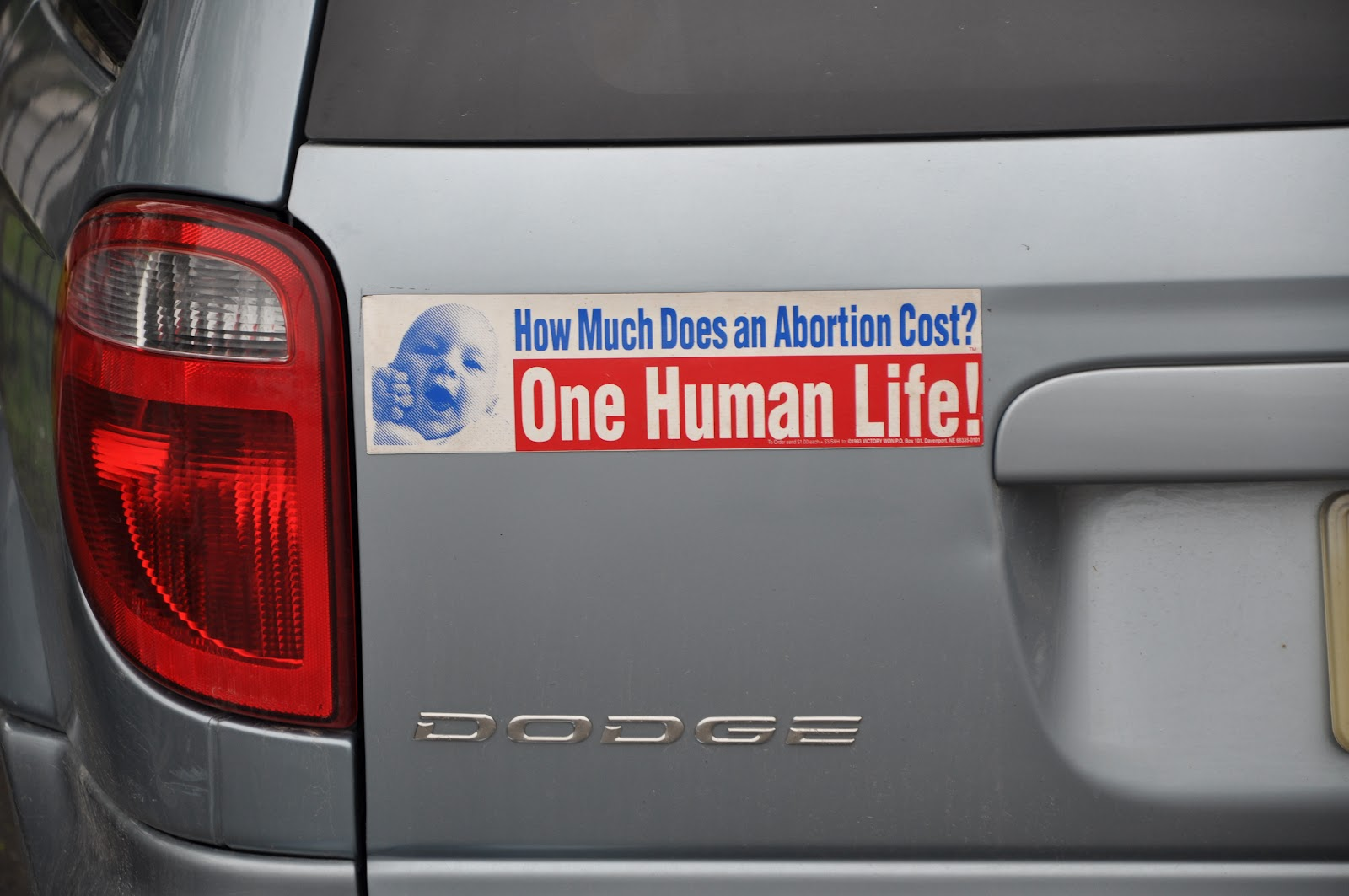 pro lifer confronts vandals who defaced her pro life bumper stickers her reaction is priceless. Black Bedroom Furniture Sets. Home Design Ideas