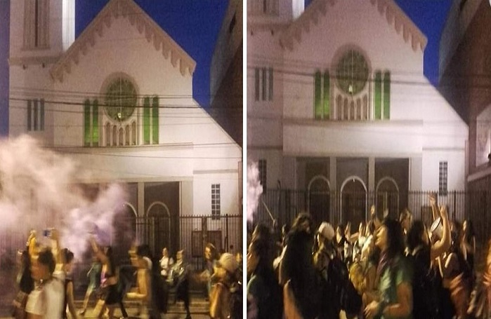 Violent Pro-Abortion Rally Ends With Abortion Activists Throwing Firebombs at Church