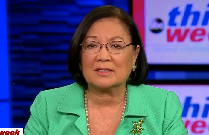 "Democrat Slams Mazie Hirono for ""Religious Bigotry"" for Saying Trump Nominee ""Extreme"" Because He's Catholic"