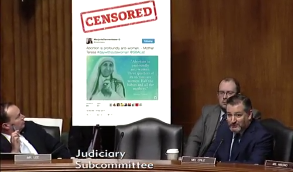 "WATCH: Twitter Official Can't Answer Why It Deemed Pro-Life Quote From Mother Teresa ""Hate Speech"""