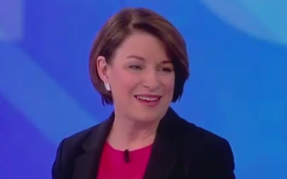 "Amy Klobuchar Supports Abortions Up to Birth: ""I Am For Women Having the Right"""