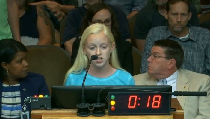 "Adults Heckle 13-Year-Old as She Tells City Council ""Abortion is Murder."" But She Keeps Going"
