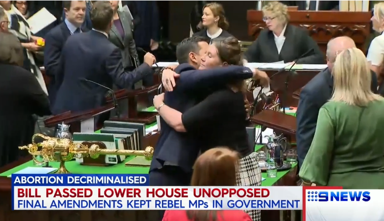 Australian State Passes Bill Allowing Abortions Up to Birth, Pro-Abortion Politicians Hug and Cheer